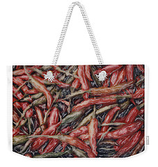 Altered Polaroid - Chile Peppers Weekender Tote Bag by Wally Hampton