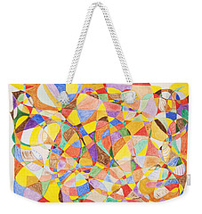 Weekender Tote Bag featuring the painting Alternate Realities by Stormm Bradshaw