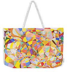 Weekender Tote Bag featuring the painting Alternate Realities by Stormm Bradshaw