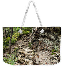 Weekender Tote Bag featuring the photograph Alum Cave Trail by Debbie Green