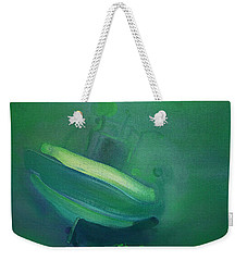 Weekender Tote Bag featuring the painting Alvor Working Boat  by Charles Stuart