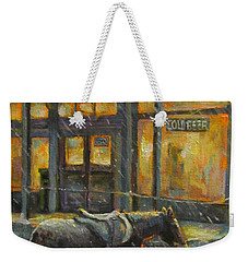 Weekender Tote Bag featuring the painting Always Open by Donna Tucker