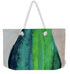 Weekender Tote Bag featuring the painting Am I Blue by Beverley Harper Tinsley