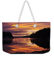 Amalga Harbor Sunset Weekender Tote Bag