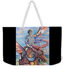 Amazing Rider Weekender Tote Bag by Gail Butler