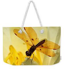 Amber Dragonfly Dancer Weekender Tote Bag