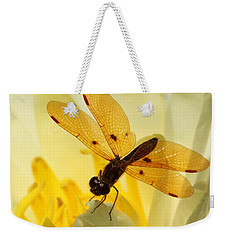 Amber Dragonfly Dancer Weekender Tote Bag