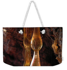 Weekender Tote Bag featuring the photograph Amber Sap by Cheryl Hoyle