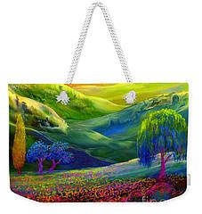 Wildflower Meadows, Amber Skies Weekender Tote Bag