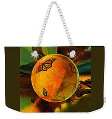 Ambered Butterfly Orb Weekender Tote Bag