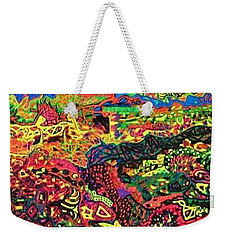 Weekender Tote Bag featuring the drawing American Abstract by Jonathon Hansen