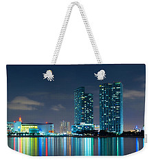 American Airlines Arena And Condominiums Weekender Tote Bag by Carsten Reisinger