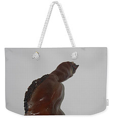 Weekender Tote Bag featuring the sculpture American Athlete...inspiration Gail Devers by Gloria Ssali