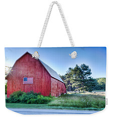 Weekender Tote Bag featuring the photograph American Barn by Sebastian Musial