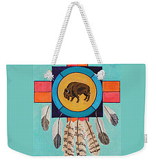 American Bison Dreamcatcher Weekender Tote Bag
