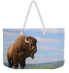 American Bison Weekender Tote Bag by James W Johnson