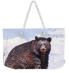 American Black Bear Weekender Tote Bag by Janice Rae Pariza