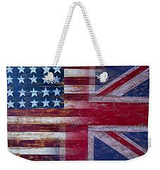 American British Flag 2 Weekender Tote Bag by Garry Gay
