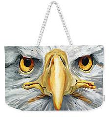 American Eagle - Bald Eagle By Betty Cummings Weekender Tote Bag by Sharon Cummings