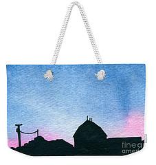 American Farm #1 Silhouette Weekender Tote Bag