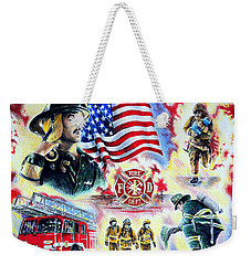 American Firefighters Weekender Tote Bag