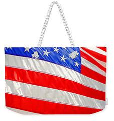 American Flag 1 Weekender Tote Bag