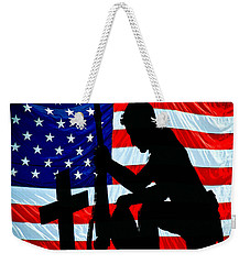 A Time To Remember American Flag At Rest Weekender Tote Bag
