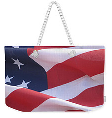 American Flag   Weekender Tote Bag by Chrisann Ellis