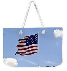 Weekender Tote Bag featuring the photograph American Flag by Verana Stark