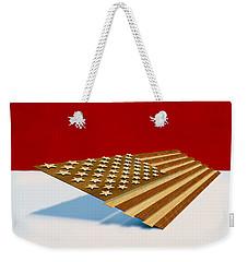 American Flag Wood Weekender Tote Bag