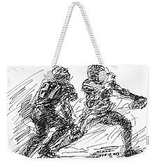 American Football 4 Weekender Tote Bag by Ylli Haruni