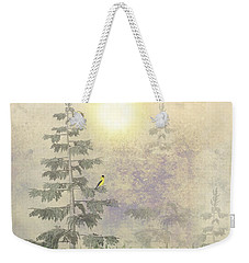 American Goldfinch Morning Mist  Weekender Tote Bag