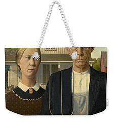American Gothic Weekender Tote Bag by Grant Wood