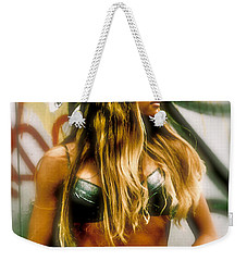Weekender Tote Bag featuring the photograph American Grunge  by Iconic Images Art Gallery David Pucciarelli