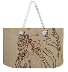American Horse - Oglala Sioux Chief - 1880 Weekender Tote Bag by Sean Connolly