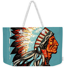American Indian Chief Profile Weekender Tote Bag
