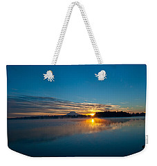 American Lake Sunrise Weekender Tote Bag