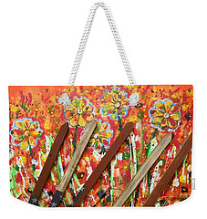 American Mornin' Flower Garden Weekender Tote Bag