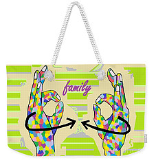 American Sign Language Family                                                    Weekender Tote Bag