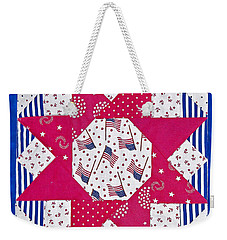 Americana Quilt Block Design Art Prints Weekender Tote Bag