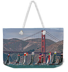 Americas Cup Catamarans At The Golden Gate Weekender Tote Bag
