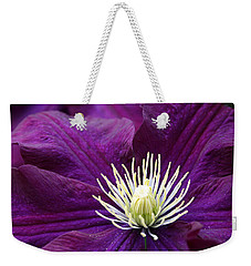 Amethyst Colored Clematis Weekender Tote Bag