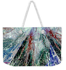 Amid The Falling Snow Weekender Tote Bag