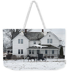 Amish Buggy And Amish House Weekender Tote Bag