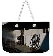 Amish Buggy Wheel Weekender Tote Bag