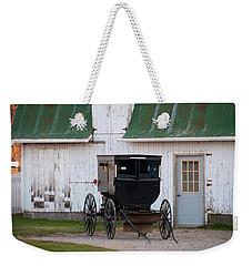 Amish Buggy White Barn Weekender Tote Bag