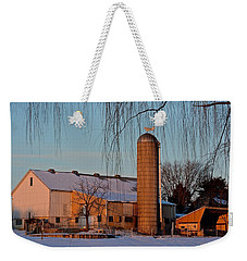Amish Farm At Turquoise Dusk Weekender Tote Bag