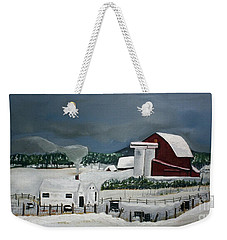 Amish Farm - Winter - Michigan Weekender Tote Bag
