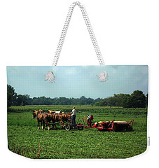 Amish Field Work Weekender Tote Bag