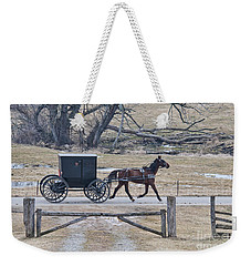 Amish Horse And Buggy March 2013 Weekender Tote Bag